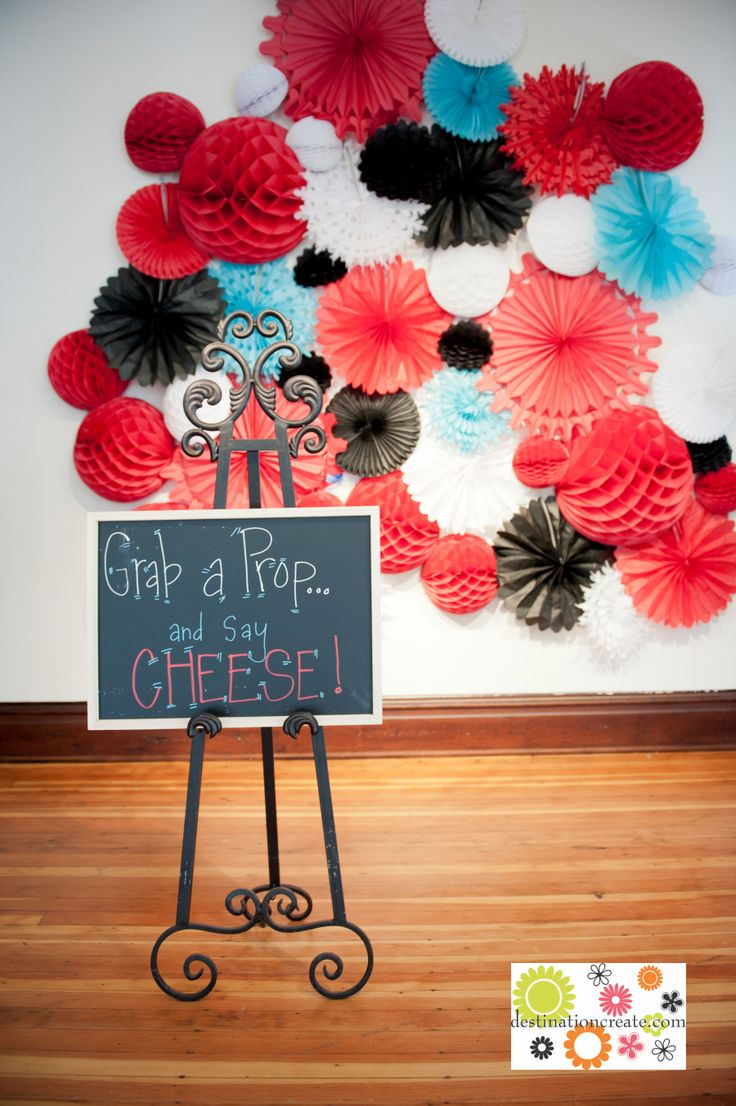 """""""Grab a Prop"""" Photo Booth Sign I like the Photo Booth and Props idea for a party--esp. kid party."""