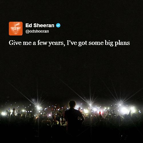 Ed. I don't know where I'll be in a few years, but I do know Ed will be somewhere great.