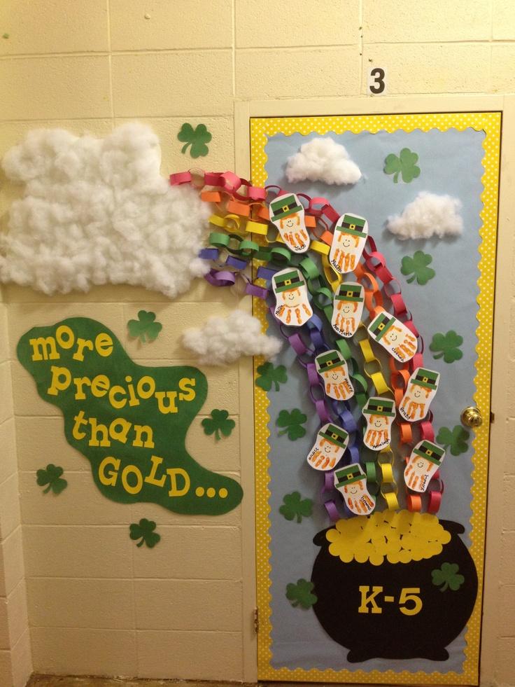 St Patrick S Day Door Classroom Decor Pinterest