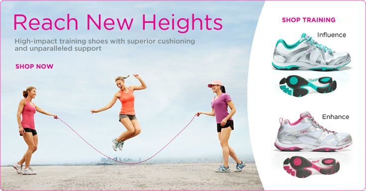 Reach New Heights in #Ryka #highimpact #trainingshoes with superior cushioning & unparalleled support.