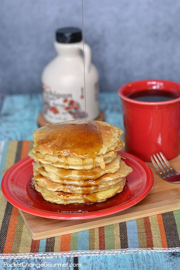 Combine two of everyone's favorite breakfast foods - oatmeal and pancakes! This Oatmeal Buttermilk Pancakes Recipe will have the whole family coming back for seconds! Enjoy them for a hearty breakfast OR breakfast-for-dinner is always a favorite too!