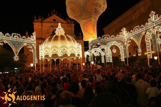 Festa di San Vito, Tricase, lancio di palloni aerostatici