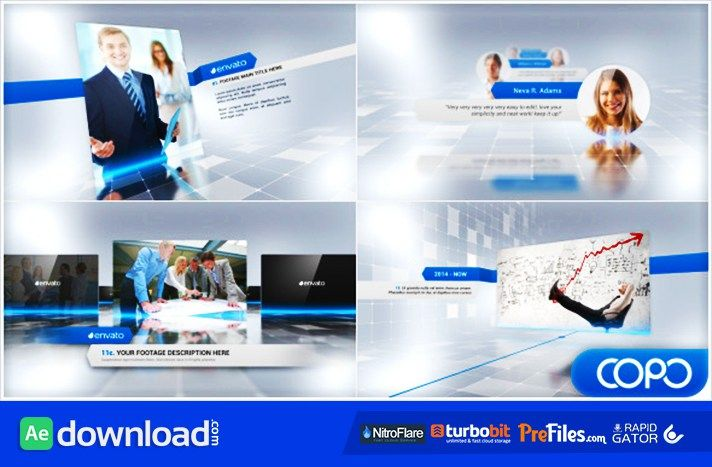 after effects presentation template free download