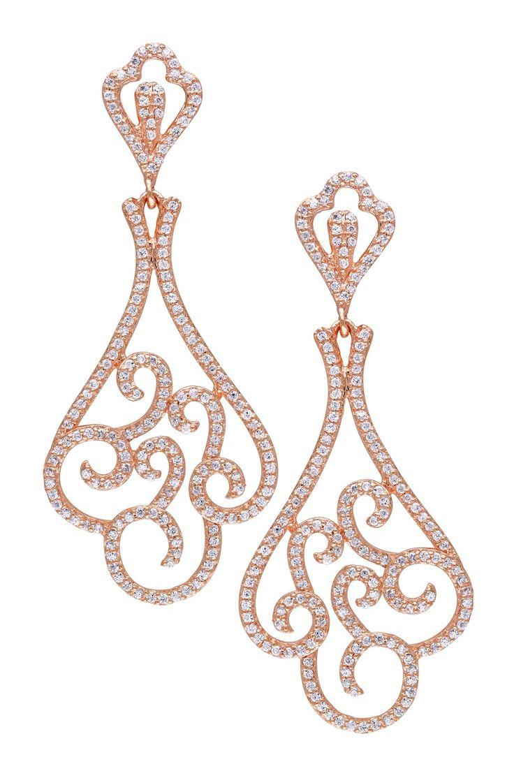 CZ Swirl Earrings on HauteLook
