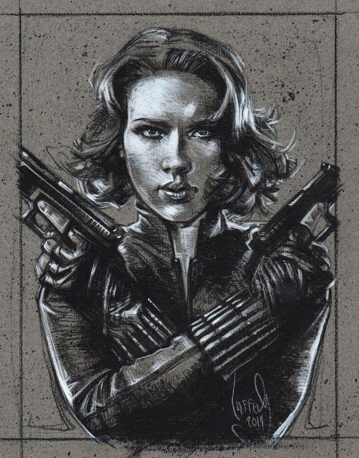 Scarlett Johansson, Black Widow, Original Drawing By Jeff Lafferty #Realism