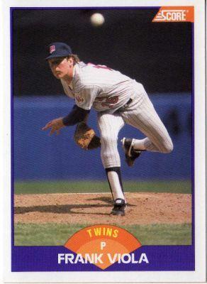 frank viola twins baseball card | ... TWINS - Frank Viola #290 SCORE 1989 Major League Baseball Trading Card