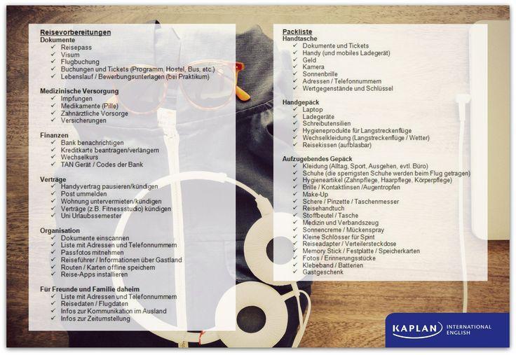 Checkliste Fur Reisevorbereitungen Auslandsjahr Gapyear