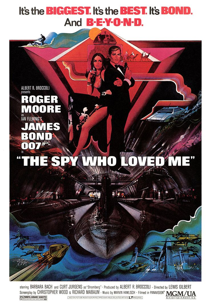 10. James Bond: The Spy Who Loved Me (1977)    007 played by: Roger Moore  Bond Girl: Barbara Bach (Major Anya Amasova)  Directed by: Lewis Gilbert  Filming budget: $28,000,000  Time between this and previous release: 3 years