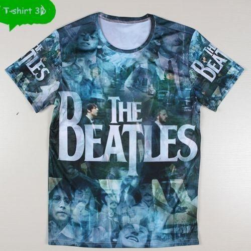 "T-SHIRT 3D MEN PRINTING ""The Beatles Rock Band"" T-shirt Top Tees camiseta de manga corta"