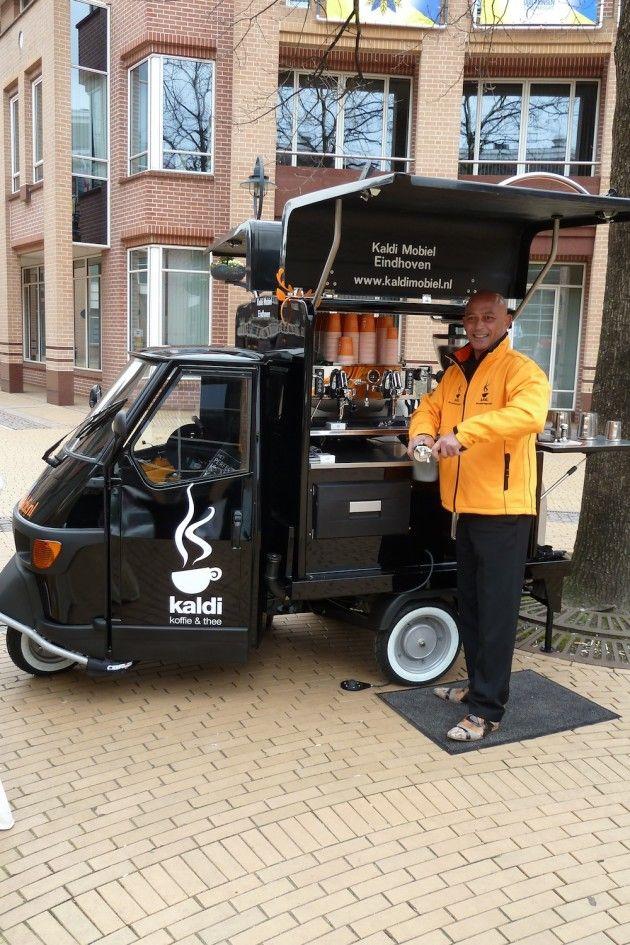 Mobiele koffiebar overal inzetbaar