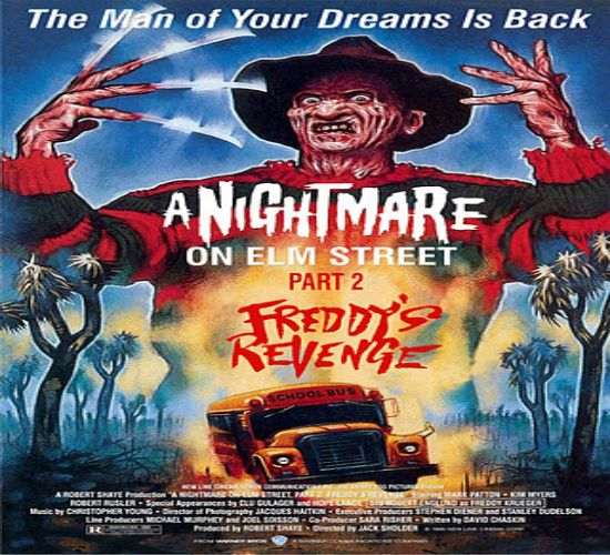 """A Nightmare on Elm Street Part 2: Freddy's Revenge"" A teenage boy is haunted in his dreams by Freddy Krueger who is out to possess him to continue his murdering in the real world."