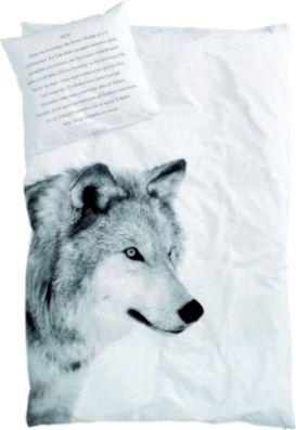 Fået villdyr i sengen :) Sengetøy med fotoprint av ulv.100% Økotex sertifisert bomull. Putetrekk med dansk/engelsktekst.140 x 200 /50 x 70cm eller ekstra lengde 140 x 220 /50 x70 cm.  Fås ogsåsomBjørn Junior,Dåyr Junior, Dårdyr Voksen, Bjørn Voksen ogElgVoksen.