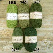 Islandsk garn ~ Lett lop -i grønne nuancer
