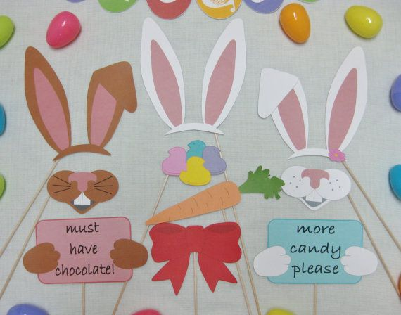 PDF - Easter photo booth props/decorations/craft - printable DIY. $3.95, via Etsy.