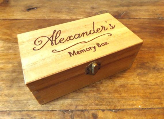 Personalised engraved wooden box  Wooden Memory Box by MakeMemento #engraved #engravedgifts #giftideas #christmasgifts #giftsforhim #giftsforher #personalisedgifts #jewellery #woodenbox #keepsakebox #weddingbox #wedding