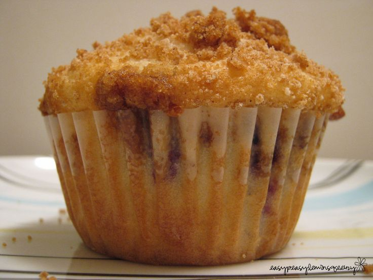 Easy Peasy Lemon Squeezy: Saskatoon Muffins with Crumb Topping