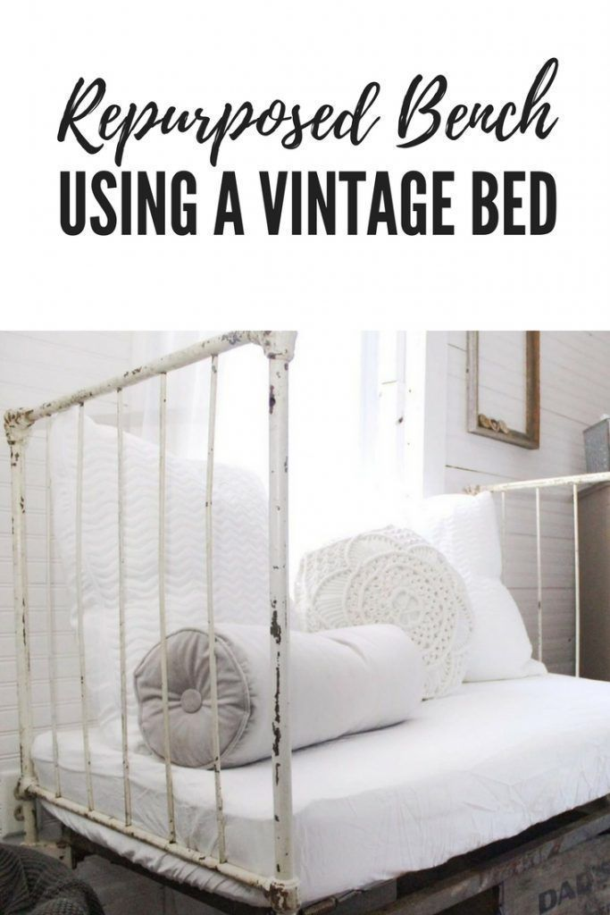 Repurposed Bench Using A Vintage Kids Bed