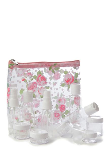 Image of MIAMICA Clear Security Case 15-Piece Set - Floral