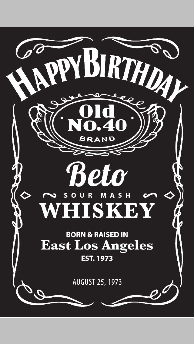 Jack Daniel's themed poster for a client's 40th Birthday Party