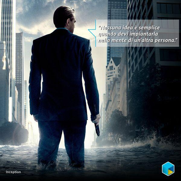 Nessuna idea è semplice quando devi impiantarla in un'altra persona. #LeonardoDiCaprio http://tim.social/inception  #film