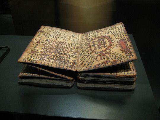 Book of Wizards - A magic book, used by wizards of the Toba Batak tribe, North Sumatra, Indonesia.