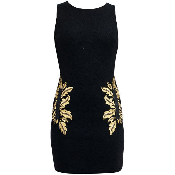 Black Bodycon Dress ($96) ❤ liked on Polyvore featuring dresses, vestidos, robe, prom dresses, bodycon prom dresses, bodycon dress, evening wear dresses and cocktail prom dress