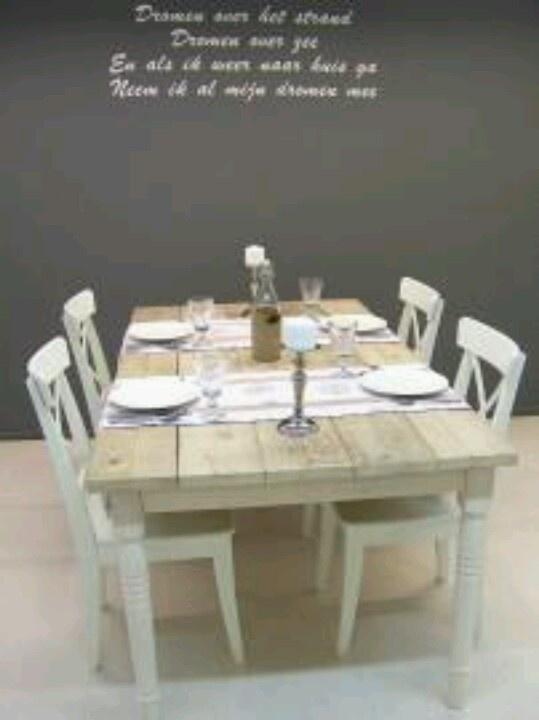 Mooie tafel  woonkamer  Pinterest