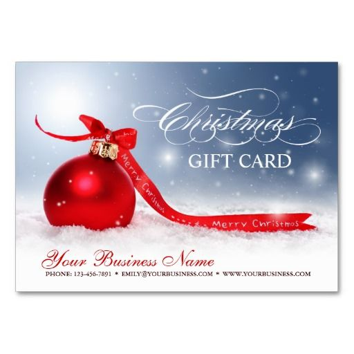 74 best business gift certificates images on pinterest blank christmas holiday season gift certificate business cards yadclub Image collections