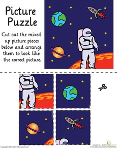 Outer Space Picture Puzzle