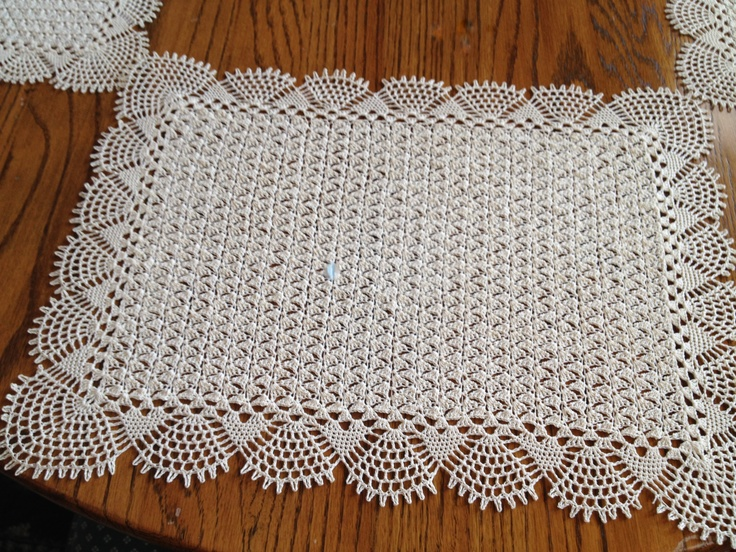 Crocheted Placemats. - 1980's