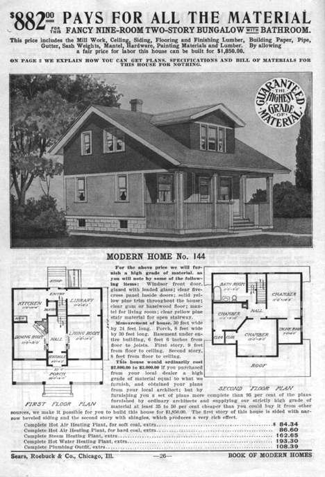 Vintage craftsman bungalow house plans for Vintage bungalow house plans