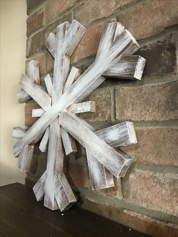 Large wooden snowflake - scrap wood