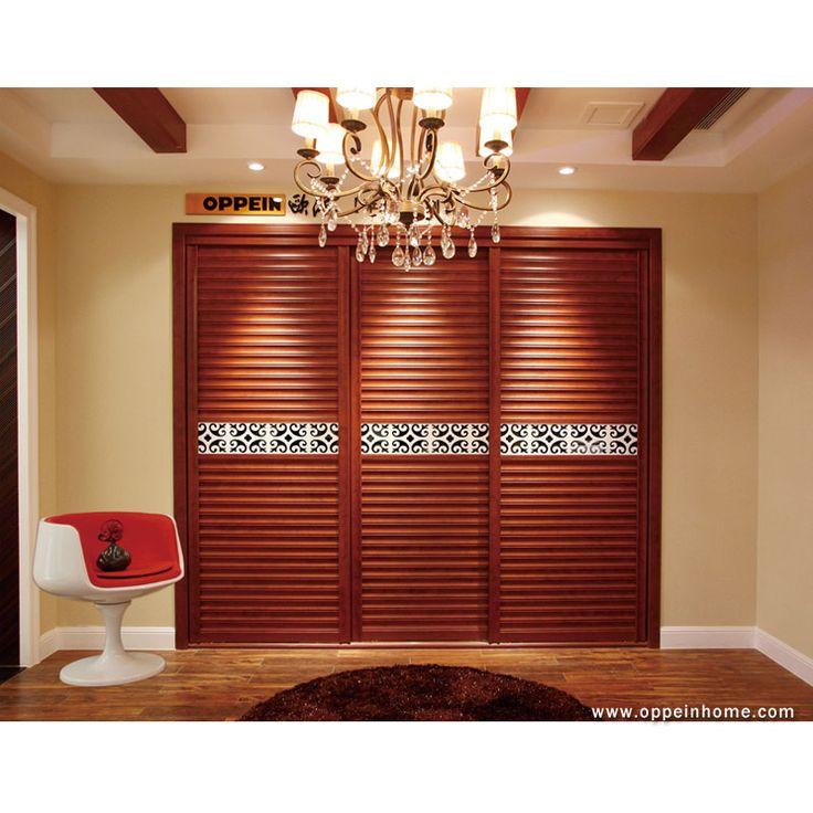 wardrobeBedroom Furniture Item Name: Antique Nut Brown Built-in Sliding Shutter Doors Wardrobe | Closet Wardrobe Model: YG11346 Cabinet Material: E0 grade of MDF / Particle Board