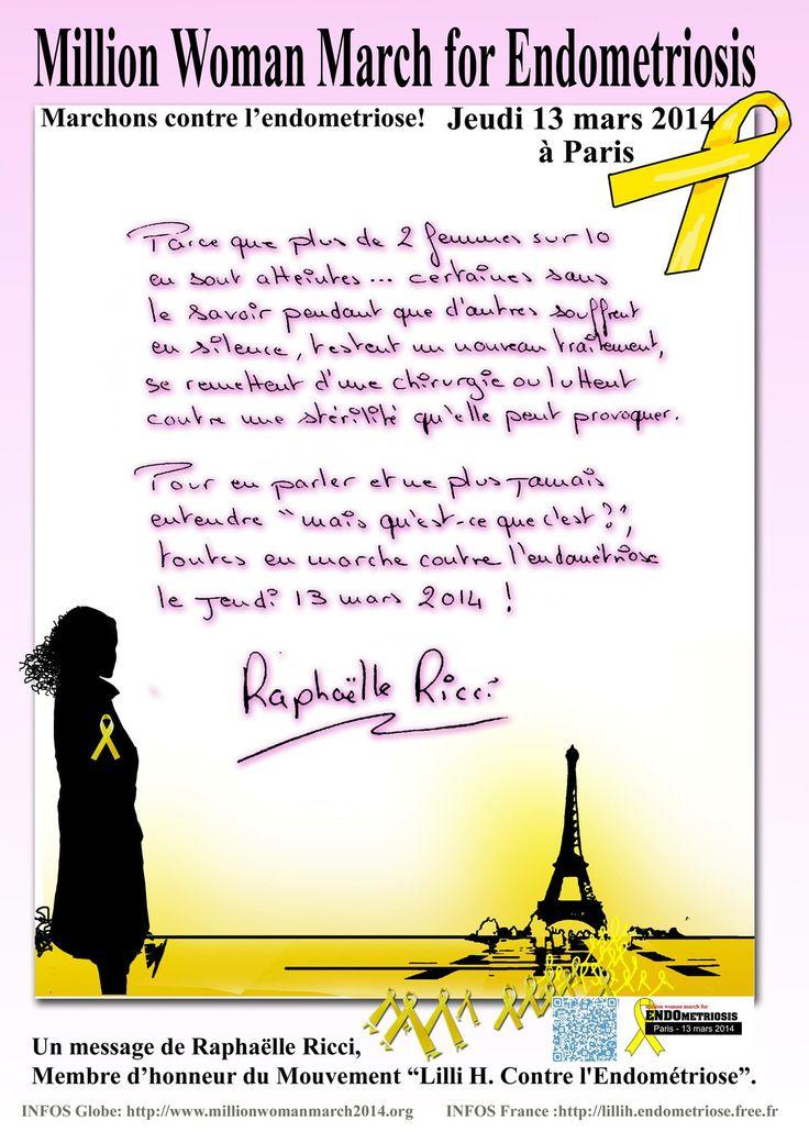 Raphaëlle Ricci contre l'endométriose