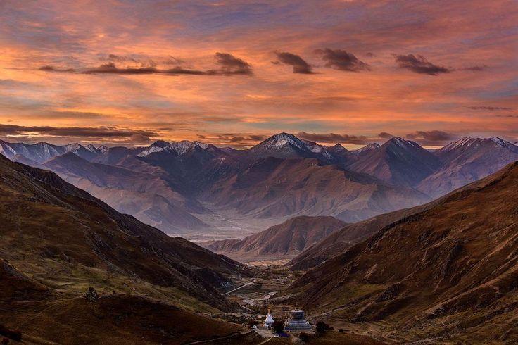 Закат на высоте 4 800 метров, Тибет