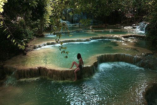 * C U R A T E D * S T Y L E * - bluepueblo: Waterfall Pools, Thailand photo via...