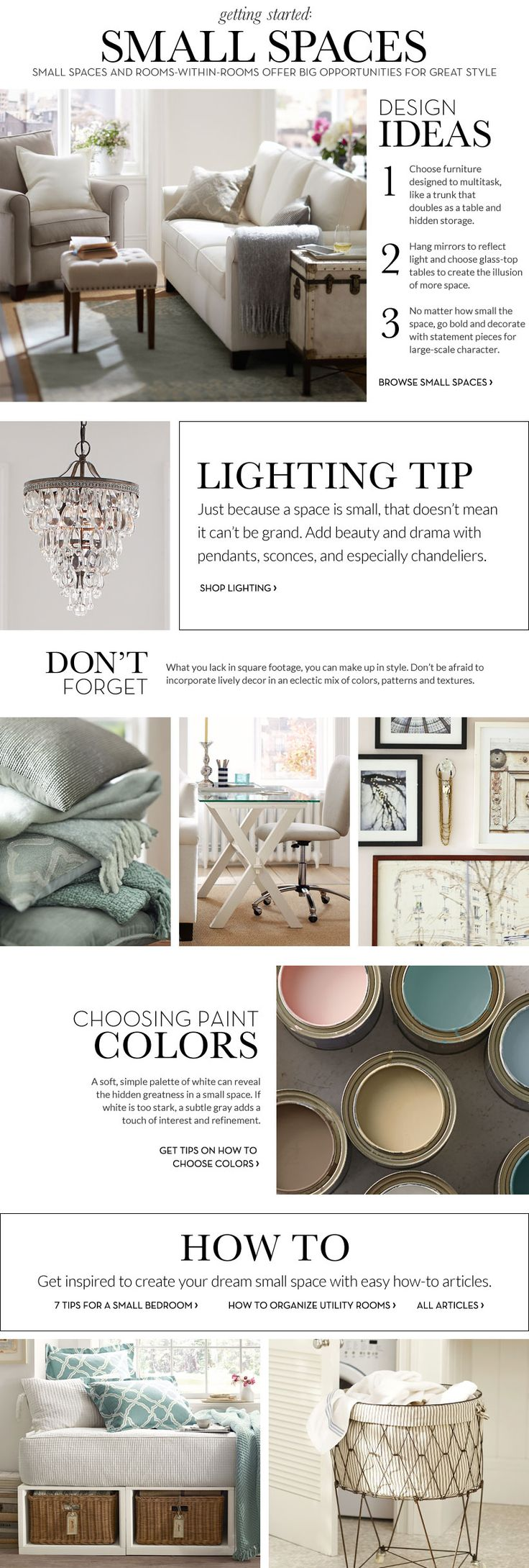 Nice Small Spaces Inspiration U0026 How To Decorate Small Spaces | Pottery Barn Images