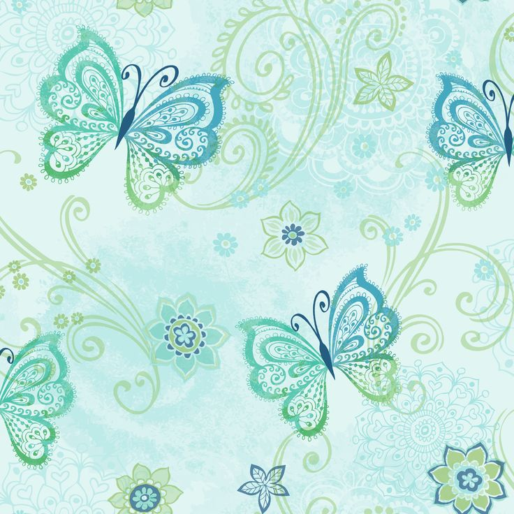 Totally For Kids, Boho Butterflies TOT47153 by Brewster Wallcoverings