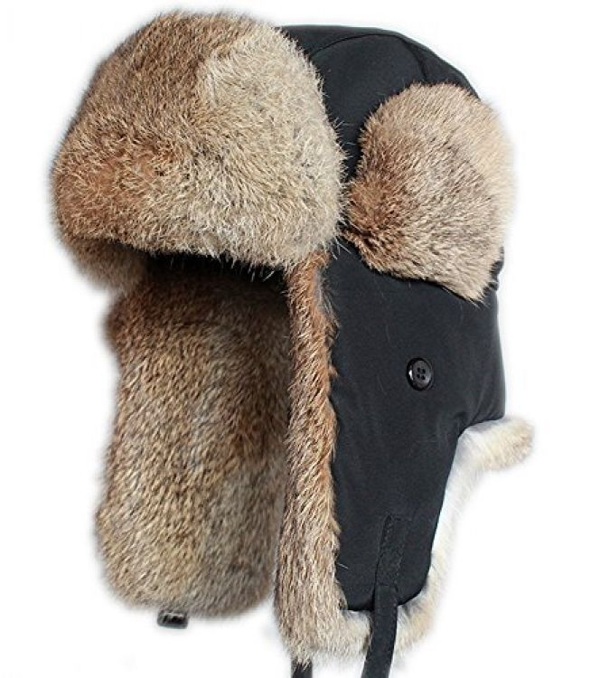 FURTALK Real Rabbit Fur Ushanka Trapper Hunting Hat Bomber Aviator Winter Cap