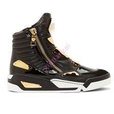 Pánské kožené vysoké top luxusní boty Tenisky boty zip metal sportovní popínavé rostliny 38-47
