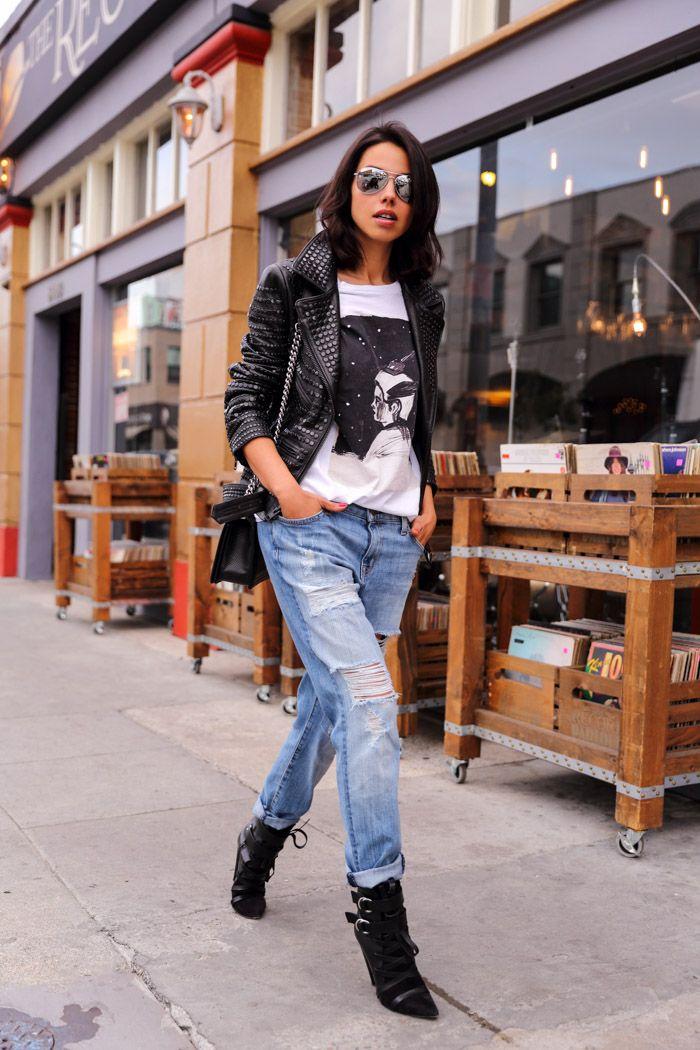 Loving this look - edgy beautiful! VivaLuxury - Fashion Blog by Annabelle Fleur: BOYFRIEND STYLE  December 2014