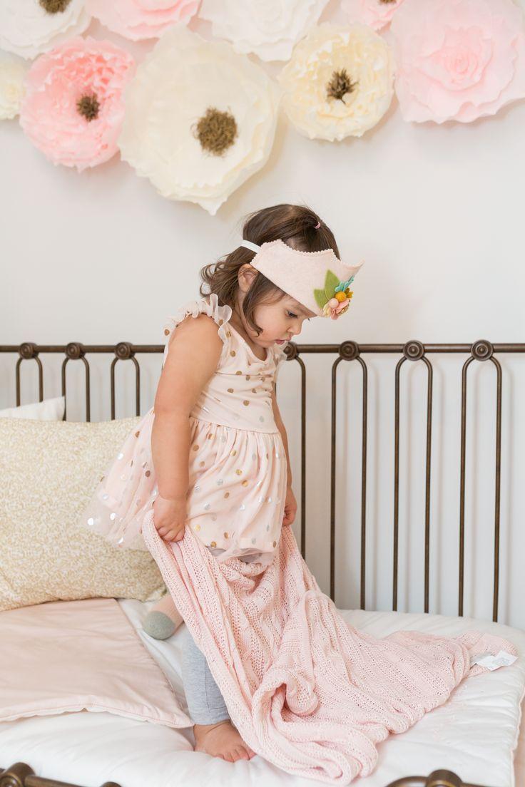 Toddler Girl in Pink Toddler Room