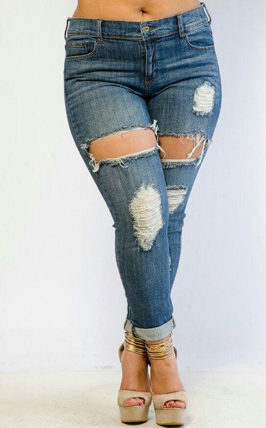 Womens plus denim jean