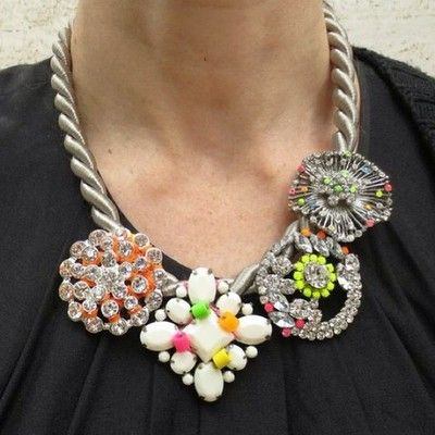#Neon Statement Necklace photographed at #NYFW Sept 2013 by #WGSN