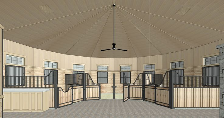 Proposed interior of Circular stable.