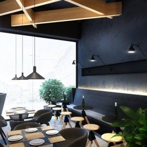 Hyper-realistic renderings of a proposed cafe  in Ukraine