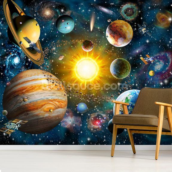 Our Solar System Wallpaper Mural Wallsauce Uk Solar System Wallpaper System Wallpaper Mural Wallpaper