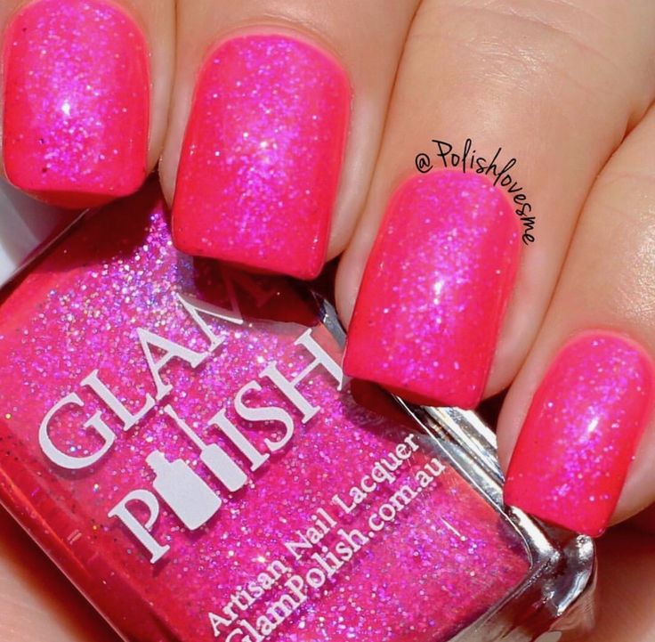 Glam Polish: ❤️ Melrose ❤️ ... a beautiful neon pink holographic nail polish