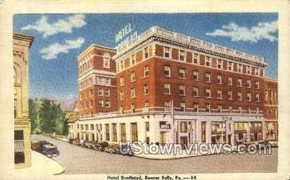 Hotel Brodhead in Beaver Falls, Pennsylvania vintage postcard from our collection of over 2 Million old antique post cards of US States, Cities and Town Views.