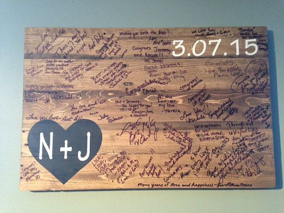 Rustic Pallet Wood Wedding Guestbook Rustic by BBSIGNSDESIGNS